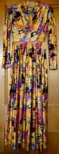 Fabulous Collectable True Vintage 1970's Maxi Dress by Brenda Ring US 8 Small