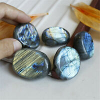 Natural Crystal/Moonstone Polished Quartz Labradorite Ore Specimen Stone Healing