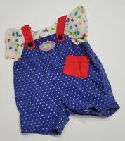 MATTEL BABY DOLL CLOTHES 1989 MAGIC NURSERY BLUE OVERALLS TOP ONLY REPLACEMENT