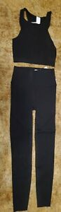 Fabletics Women's Sculpt Knit Outfit Size Small Black NWT
