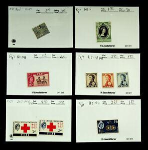 FIJI 1963 INT'L RED CROSS CENTENARY QE II 9v MINT + USED STAMPS CV $20