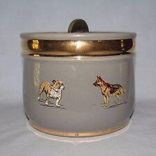 Royal Doulton Lambeth Stoneware Tobacco Jar Dogs decor