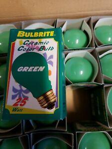 Bulbrite 25 Watt Incandescent A19 Ceramic Green Standard Base