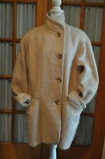 WAYNE EVANS Long Mohair Wool Blend Womens Size 14 BOHO CHIC SWING COAT JACKET