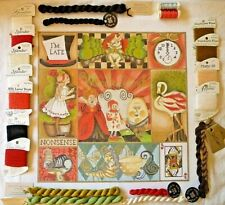 Handpainted Needlepoint Canvas , Lani, Alice in Wonderland with some threads .