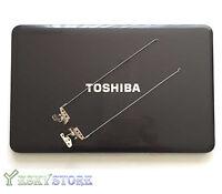 """NEW Toshiba Satellite C855 C855D LCD Back Cover 15.6"""" V000270530 Black W Hinges"""