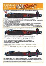 Kits World Decals 1/144 AVRO LANCASTER B.I Johnny Walker & Others