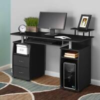 Computer Desk PC Laptop Table WorkStation Home Office Furniture w/ Printer Shelf