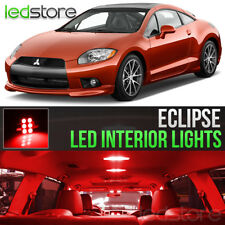 2006-2012 Mitsubishi Eclipse Red LED Lights Interior Kit Package Bulbs