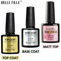 BELLE FILLE UV&LED Soak off Gel Nail Polish , Matte Top / Top Coat and Base Coat