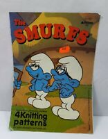The Smurfs Patons - 4 Knitting Patterns - vintage pattern from 1990