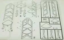 """Natural Wood Look Footed Corner Curio Table 30"""" NIB ABC Inc. Assembly Required"""