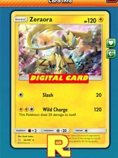 Zeraora Playset (4x) - for Pokemon TCG Online (ptcgo in Game Card)