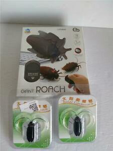 Lot of 3 Interactive Cockroaches - Solar and Battery Operated Giant Cockroach
