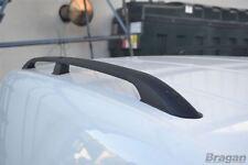 Para montar 2010+ Fiat Doblo LWB Negro Barras de techo de aluminio rieles rack van