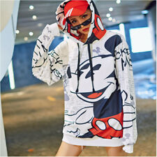 Mickey Mouse Women Sweatshirt Long Oversized Loose Capuche Hoodies Streetwear