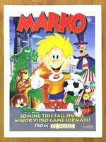 Marko SNES Sega Genesis 1994 Vintage Print Ad/Poster Official Authentic Art Rare