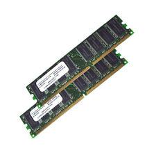 2GB Infineon DDR1 PC Arbeitsspeicher PC 3200 Computer Speicher 2x 1GB Kit