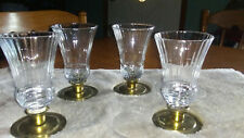 "Vtg Home Interior Renaissance Votive Cups (4) Cups 4 3/4"" Clear Glass Homco"