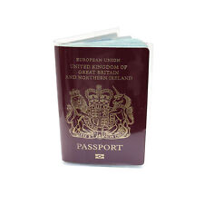 2 x Clear / Transparent Passport Cover Holder  Travel Protector