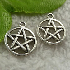 free ship 280 pieces tibet silver star charms 20x17mm #4149