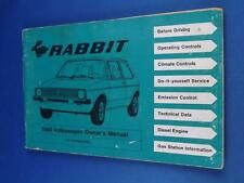 1980 VOLKSWAGEN RABBIT OWNERS MANUAL GLOVE BOX BOOK CAR MAINTENANCE