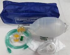 Ambu Bag Adult  Silicon Manual Resuscitator Oxygen Tube Mask-CPR First Aid kit