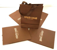 ROBERTO CAVALLI EYEWEAR BROWN PAPER GIFT SHOPPING BAGS LOT OF 5