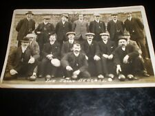 Old postcard The Jolly Beggars crown green bowling team c1900s