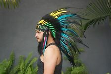 Native American Headdress, Indian Headdress, Feather Costume, Party