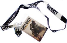 Call of Duty Game Sentinel Task Force Lanyard w/ Logo Charm & Sticker NEW UNUSED