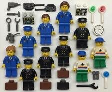 10 Lego Airport Minifigs Lot: city town airplane 7894 3182 6597 10159 girl pilot