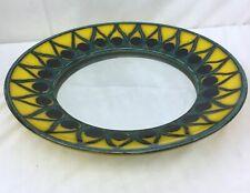 Allgauer Keramik Yellow Peacock Pattern Mirror