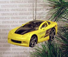 2005 CHEVY CORVETTE '05 RACE CAR YELLOW CHEVROLET RACING CHRISTMAS ORNAMENT XMAS