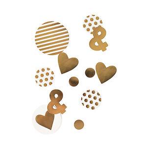 Gold Foil Jumbo Party Confetti Wedding Anniversary Decorations 100/pk