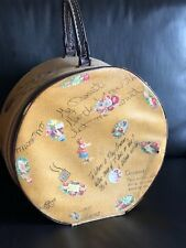 Vintage Printed Hat Box Luggage Suit Case Beautiful with Notes written on it