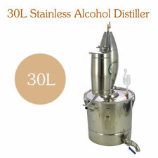 DIY Maison Distillateur Alambic Thermomètre Cuivre Alcool Huile Eau 25-30L