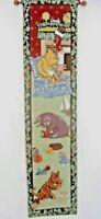 NEW Disney Winnie the POOH Eeyore Tigger CHRISTMAS TAPESTRY Wall Hanger