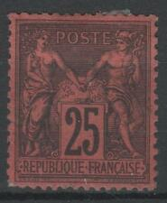 "FRANCE STAMP TIMBRE N° 91 "" TYPE SAGE 25 c NOIR SUR ROUGE "" NEUF x TTB  N632"