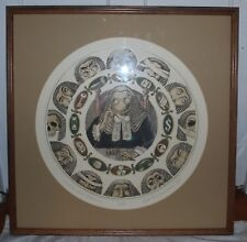 "Curt Frankenstein Etching,67/100 Titled ""Judicial Wheel of Fortune"" Framed"