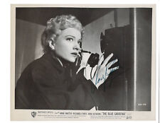 Anne Baxter Signed Movie Still Photo 1953 / The Blue Gardenia Autographed