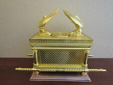 Jewish Gold Ark of the Covenant Testimony Copper Base EXTRA Large Size Replica