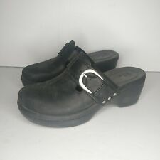 Crocs Cobbler Buckle Womens Clogs Black Mule Slip On Shoes Sandals Size 7 W