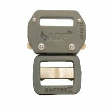 "Raptor II Tactical Military Police Aluminum Quick Release 1"" Belt Buckle Grey."