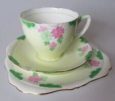 Antique Style Cup & Saucer 3 Piece GRAFTON Bone China Set - Made In England