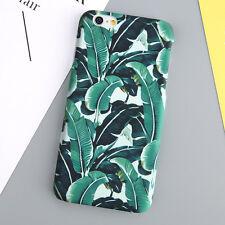 Green Leaves Pattern Slim Hard Matte Back Case Cover For iPhone SE 5 7 6s Plus