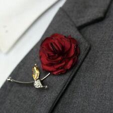 Red Rose Flower Lapel Pin Red Enamel Pin Men Women Wedding Suit Pin Brooch B385