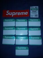 Supreme Name Tag Stickers