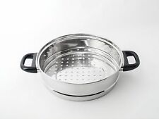 NEW 24cm Steamer Stacker, Stainless, Fits  24cm Pot Casserole Dutchoven  RRP $22