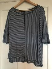 M&S Stripe Blue Batwing Top 16 Marks And Spencer Casual Stripe Nautical